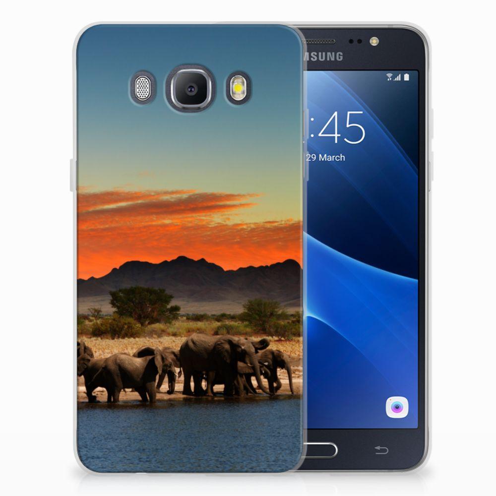 Samsung Galaxy J5 2016 TPU Hoesje Design Olifanten