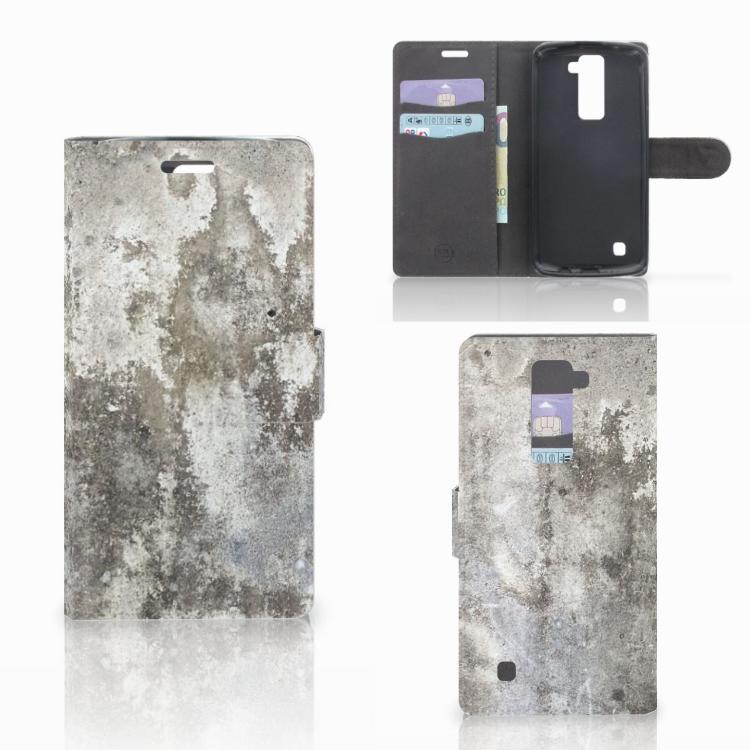 LG K10 2015 Bookcase Beton Print