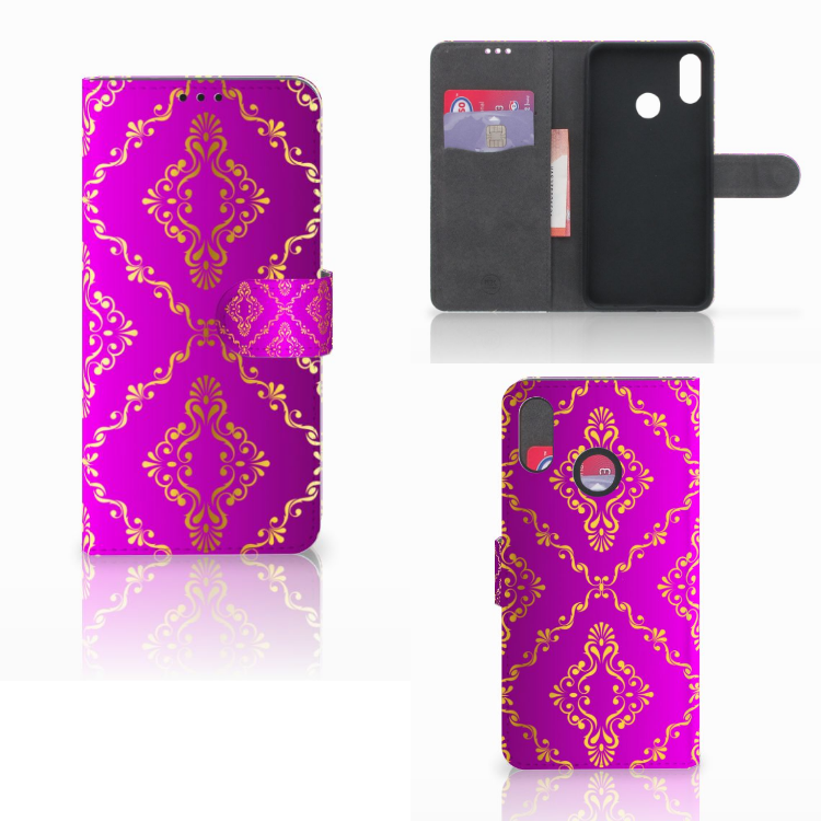 Wallet Case Huawei P Smart Plus Barok Roze