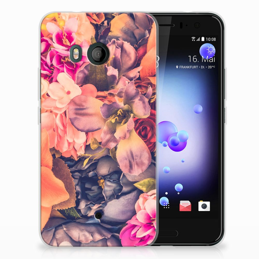 HTC U11 TPU Hoesje Design Bosje Bloemen