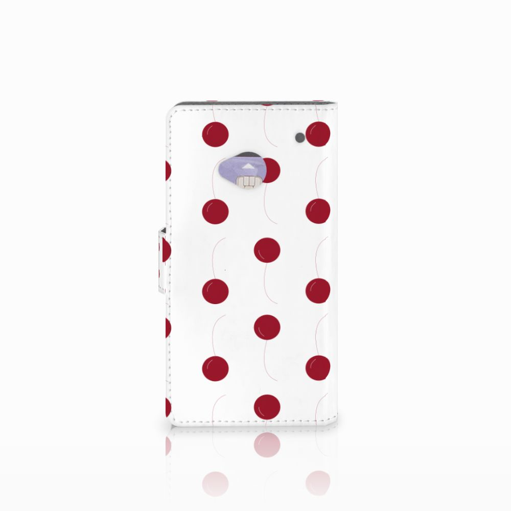 HTC One M7 Book Cover Cherries
