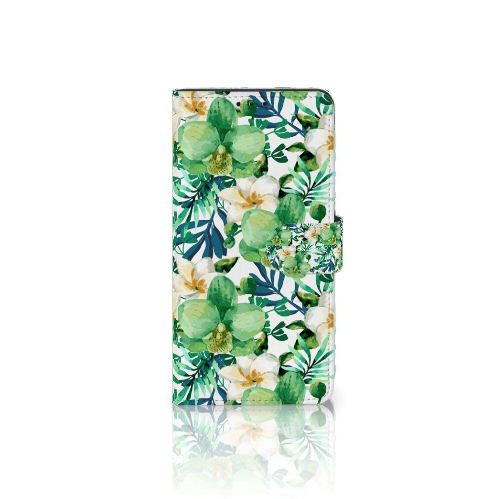 Samsung Galaxy J4 Plus (2018) Uniek Boekhoesje Orchidee Groen