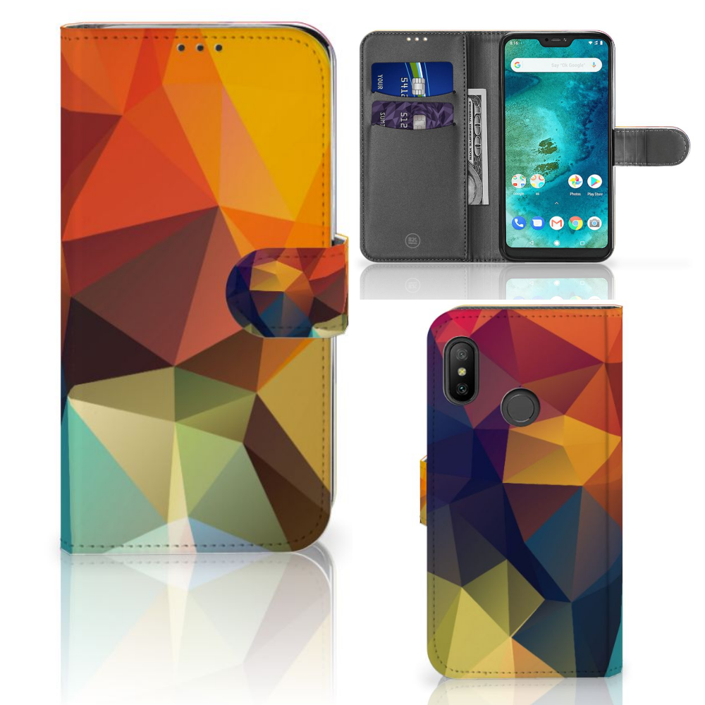 Xiaomi Mi A2 Lite Bookcase Polygon Color