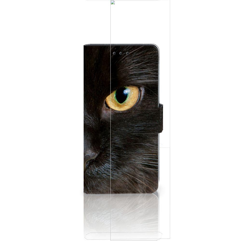 Huawei Ascend P8 Lite Uniek Boekhoesje Zwarte Kat