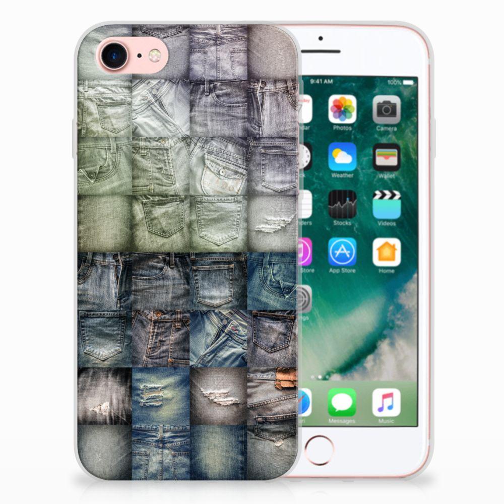 Apple iPhone 7 | 8 Uniek TPU Hoesje Spijkerbroeken