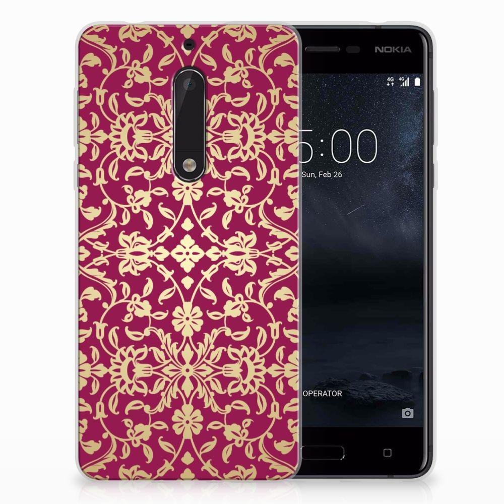 Nokia 5 TPU Hoesje Design Barok Pink