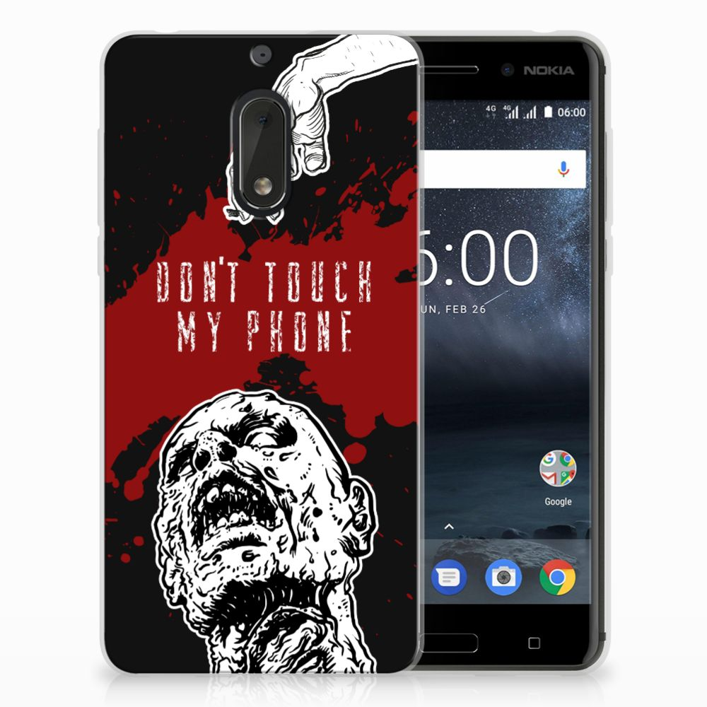 Nokia 6 TPU Hoesje Design Zombie Blood