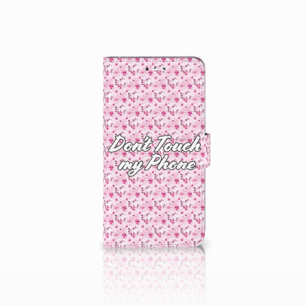 Huawei Y7 2017 | Y7 Prime 2017 Uniek Boekhoesje Flowers Pink DTMP