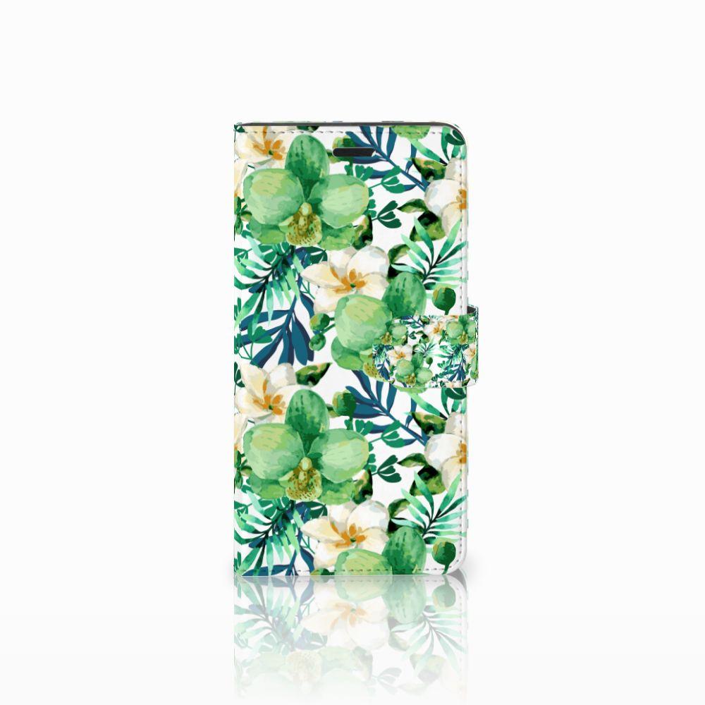 Wiko Pulp Fab 4G Uniek Boekhoesje Orchidee Groen