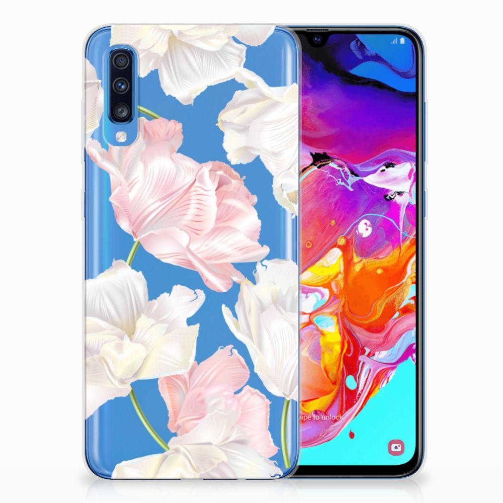 Samsung Galaxy A70 TPU Hoesje Design Lovely Flowers