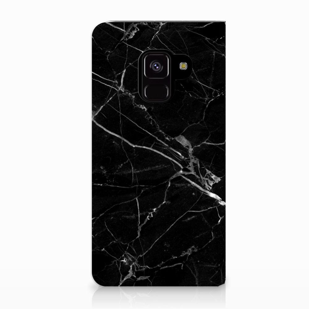 Samsung Galaxy A8 (2018) Uniek Standcase Hoesje Marmer Zwart