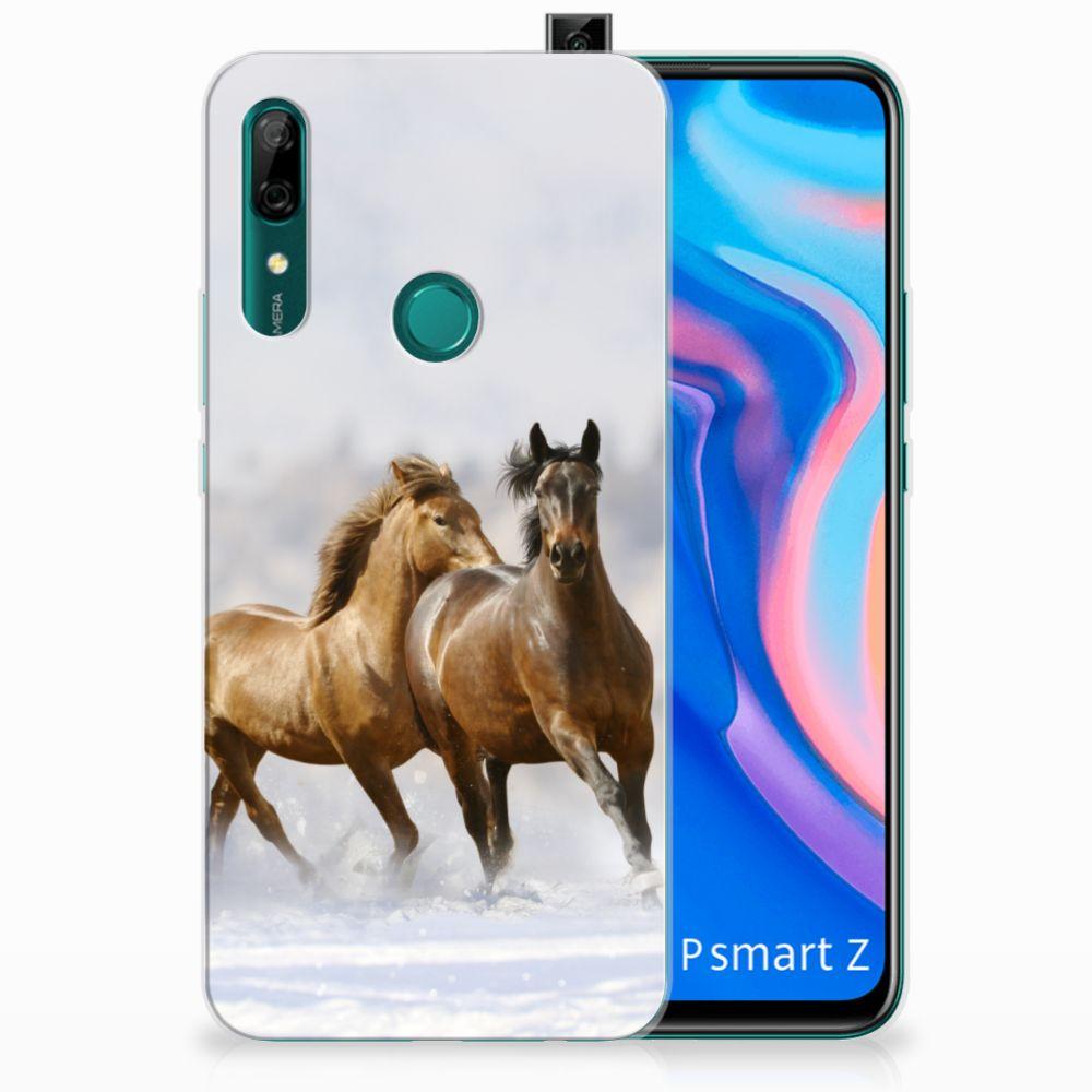 Huawei P Smart Z TPU Hoesje Paarden