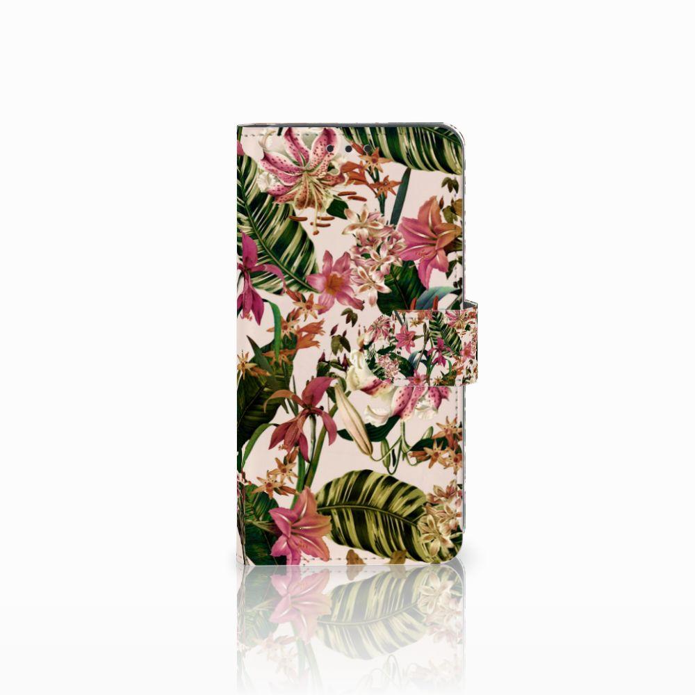 Samsung Galaxy A8 2018 Uniek Boekhoesje Flowers
