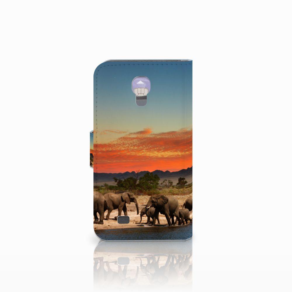 Samsung Galaxy S4 Telefoonhoesje met Pasjes Olifanten