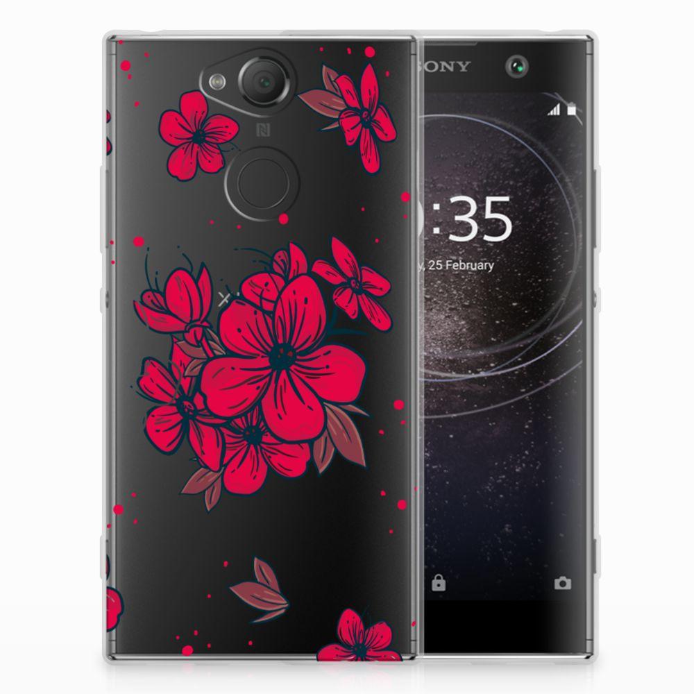 Sony Xperia XA2 TPU Hoesje Design Blossom Red
