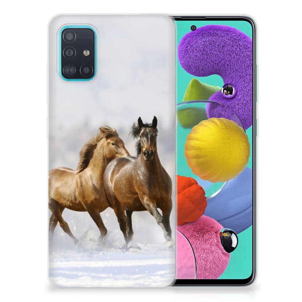 Samsung Galaxy A51 TPU Hoesje Paarden