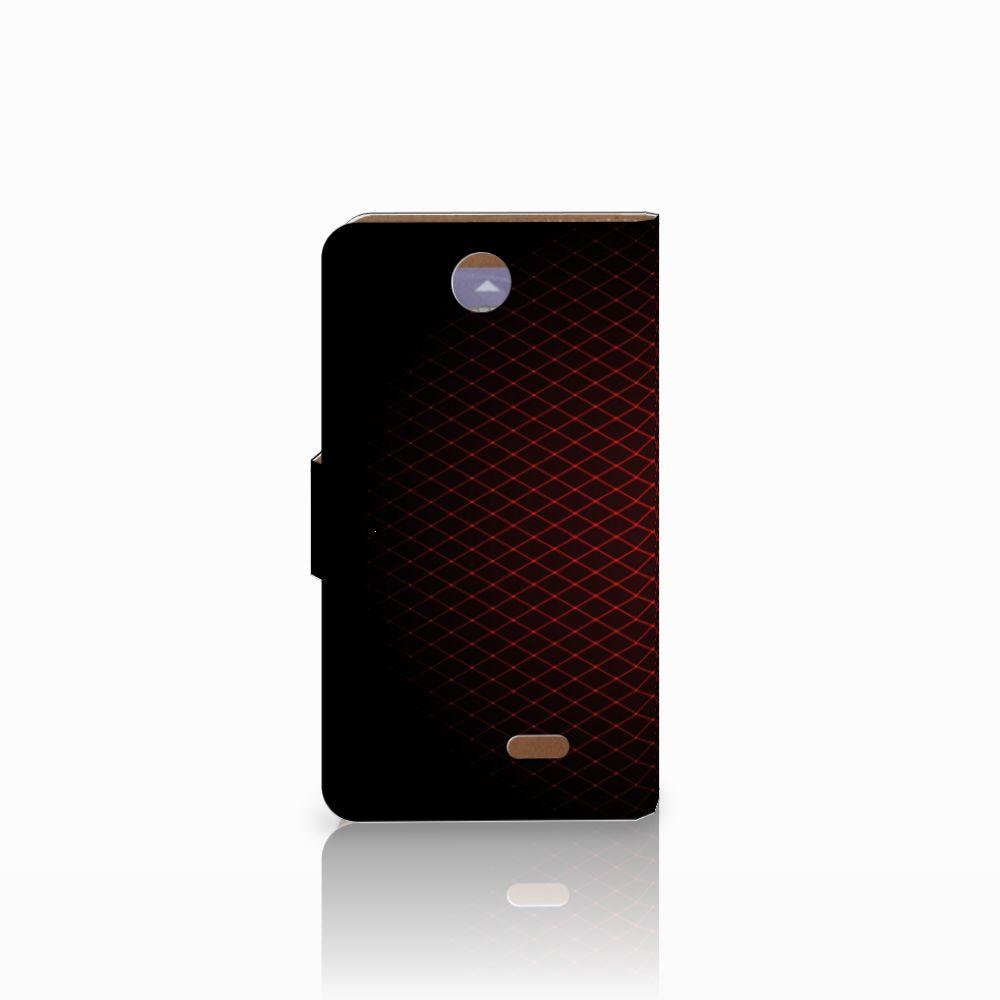 HTC Desire 310 Telefoon Hoesje Geruit Rood