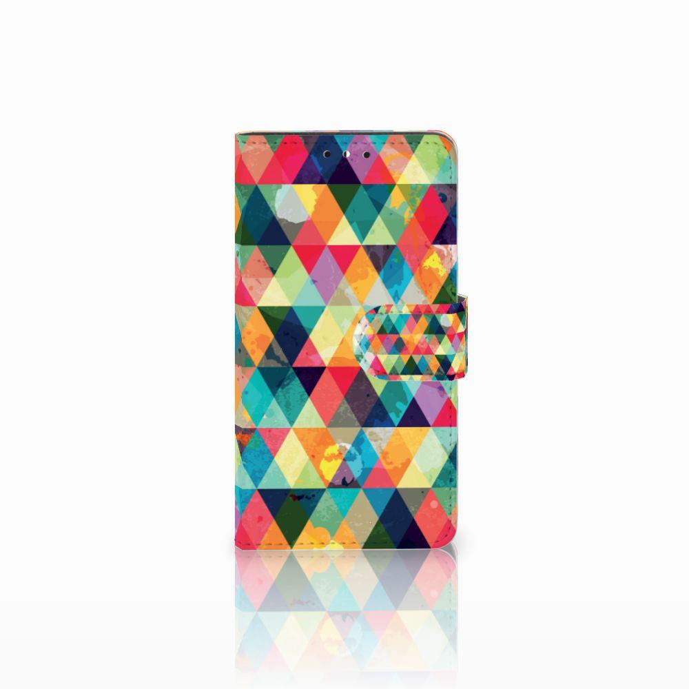 Huawei Y5 | Y6 2017 Uniek Boekhoesje Geruit