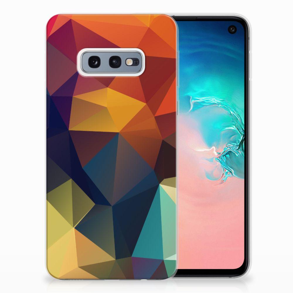 Samsung Galaxy S10e TPU Hoesje Polygon Color