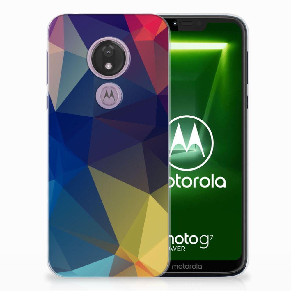Motorola Moto G7 Power TPU Hoesje Polygon Dark