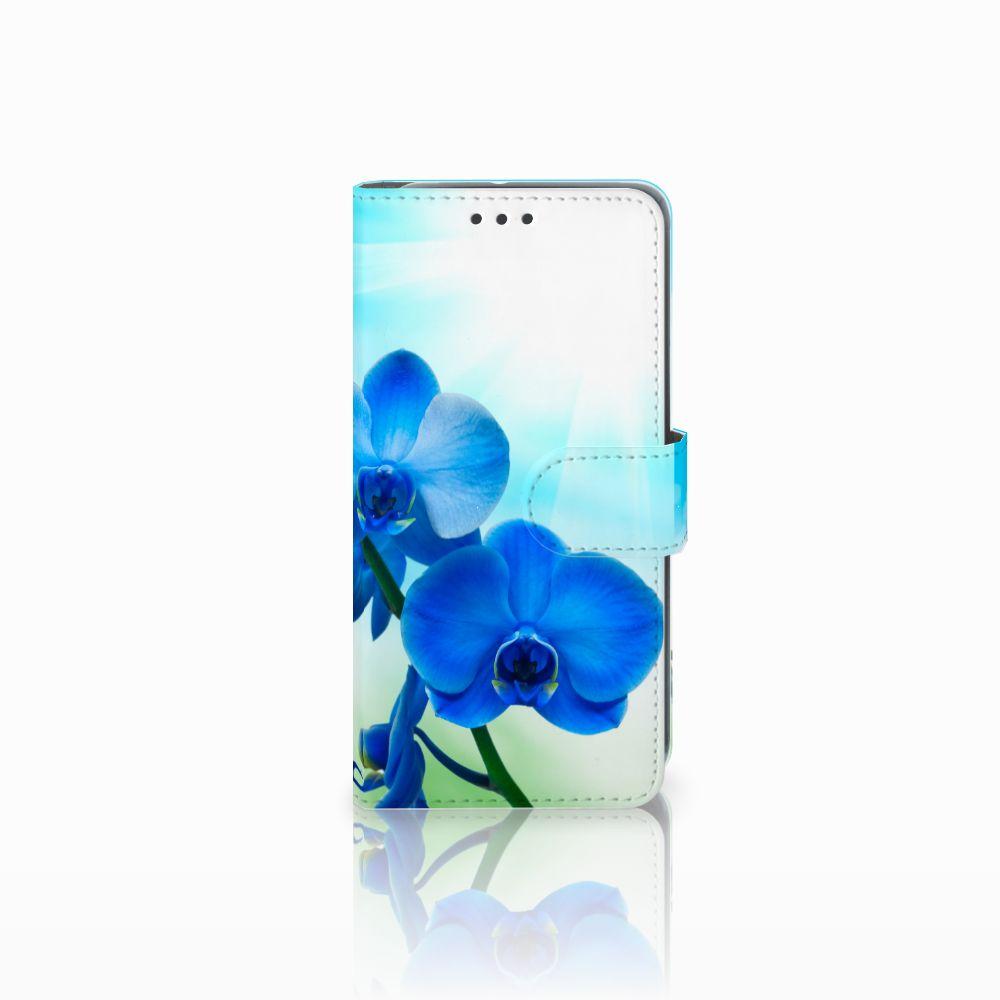 HTC U11 Life Boekhoesje Design Orchidee Blauw