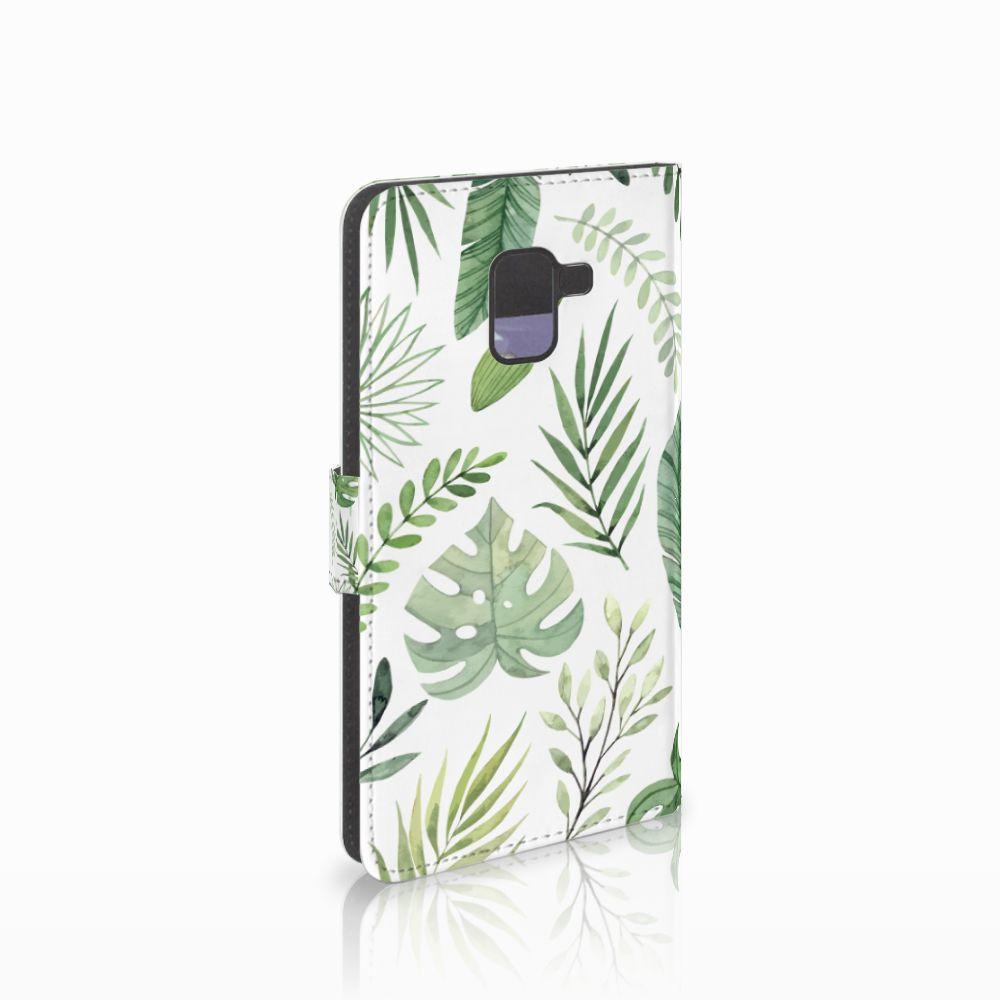 Samsung Galaxy A8 Plus (2018) Uniek Boekhoesje Leaves