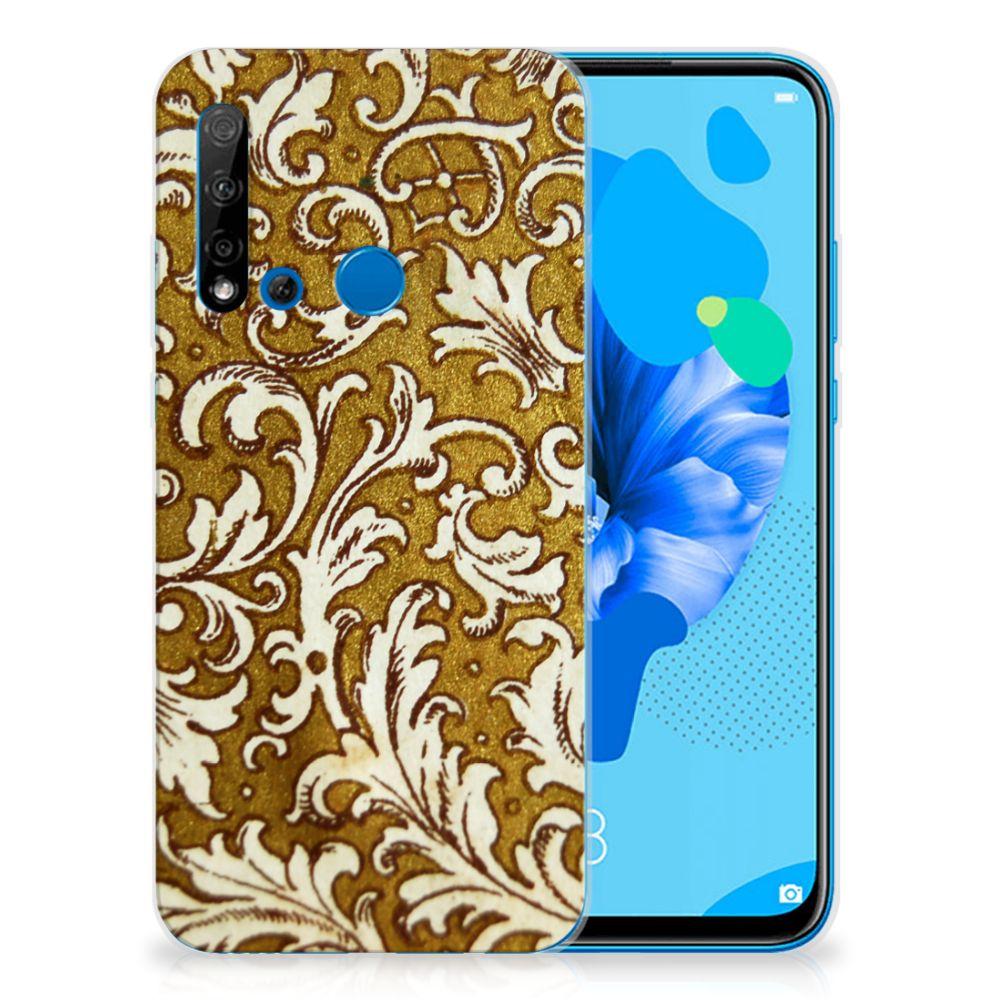 Siliconen Hoesje Huawei P20 Lite (2019) Barok Goud
