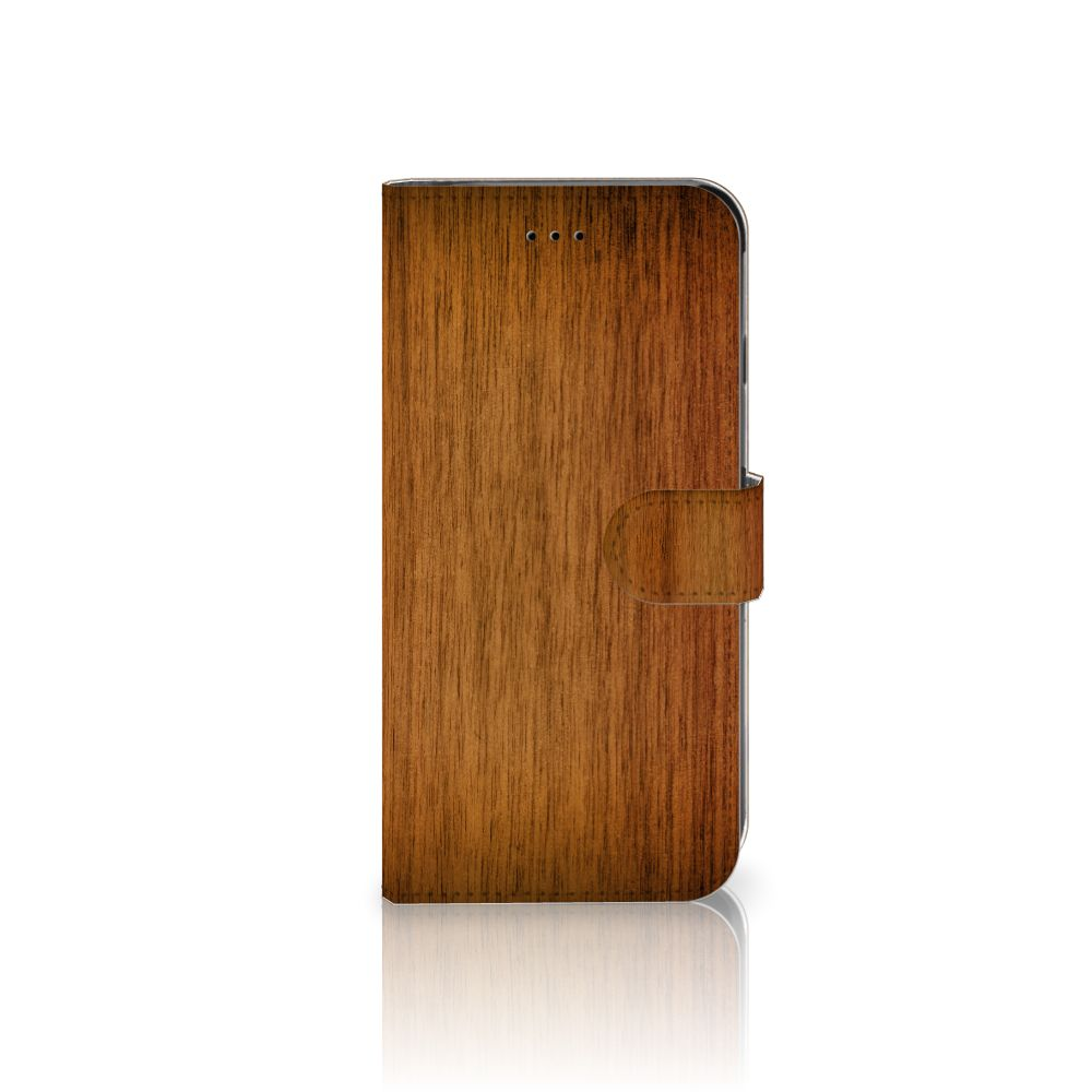Apple iPhone 6 Plus | 6s Plus Book Style Case Donker Hout