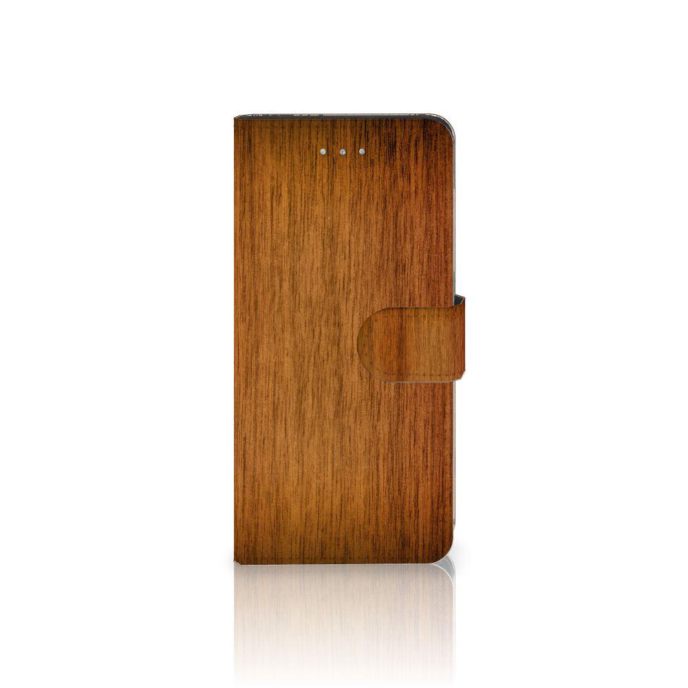 Apple iPhone 6 Plus | 6s Plus Uniek Boekhoesje Donker Hout