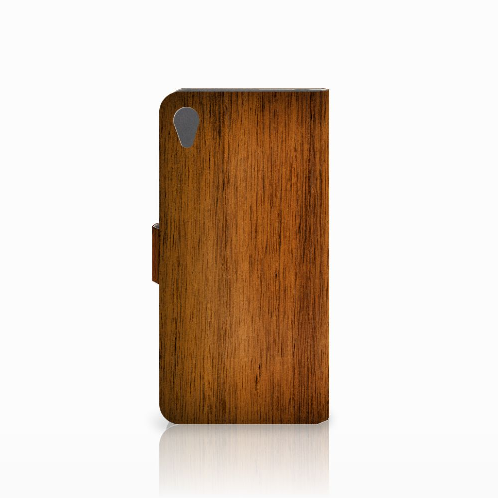 Sony Xperia Z5 Premium Book Style Case Donker Hout