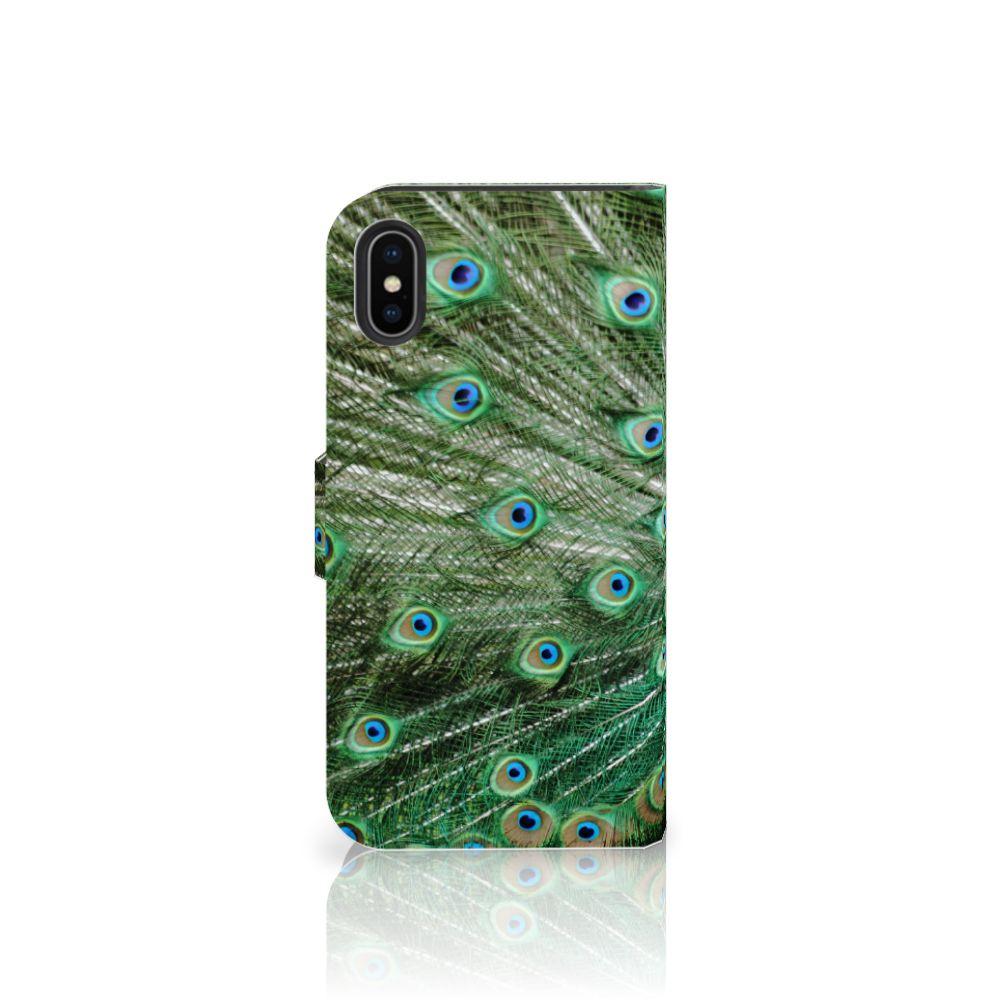 Apple iPhone X | Xs Telefoonhoesje met Pasjes Pauw