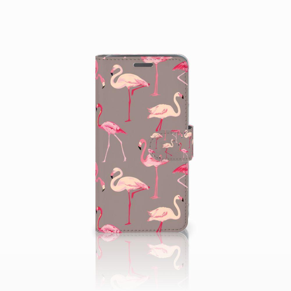 Wiko Rainbow Jam Uniek Boekhoesje Flamingo