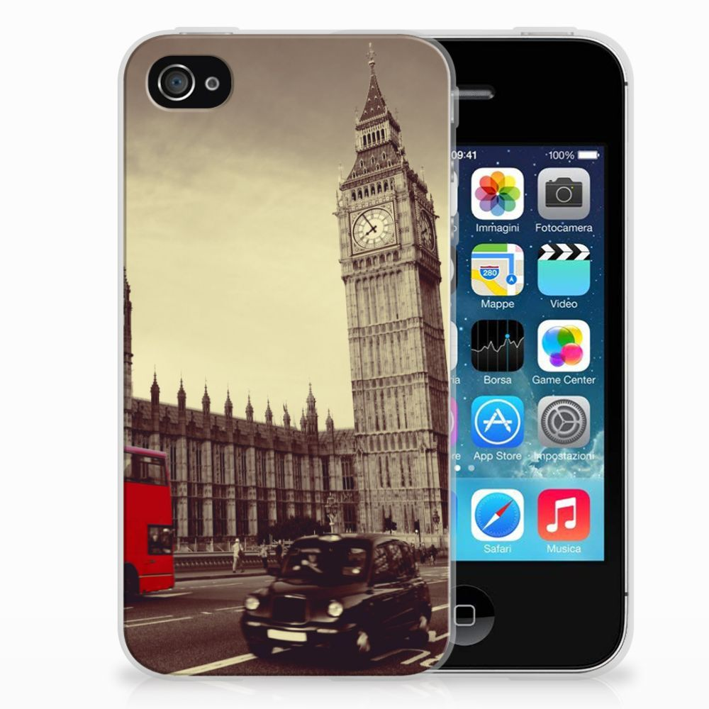 Apple iPhone 4 | 4s Siliconen Back Cover Londen
