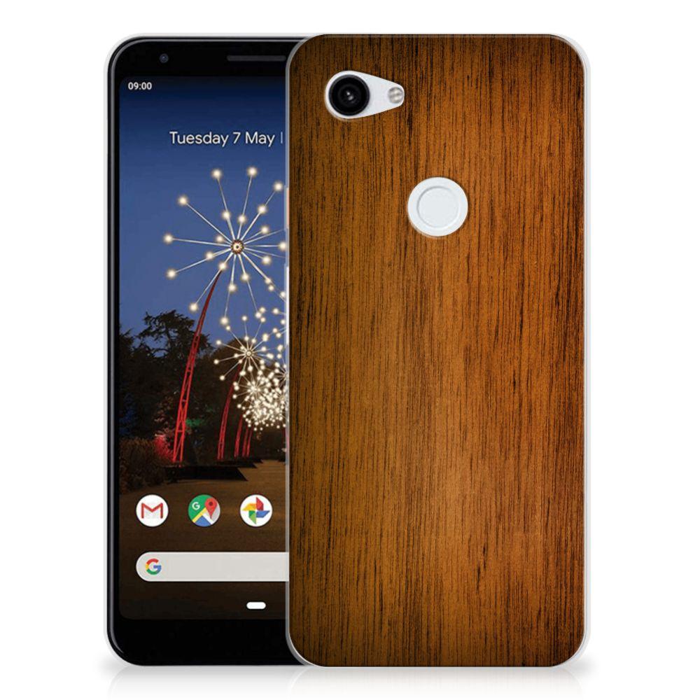 Google Pixel 3A XL Bumper Hoesje Donker Hout