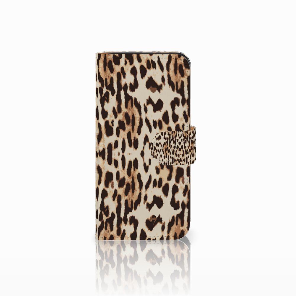 HTC One Mini 2 Uniek Boekhoesje Leopard