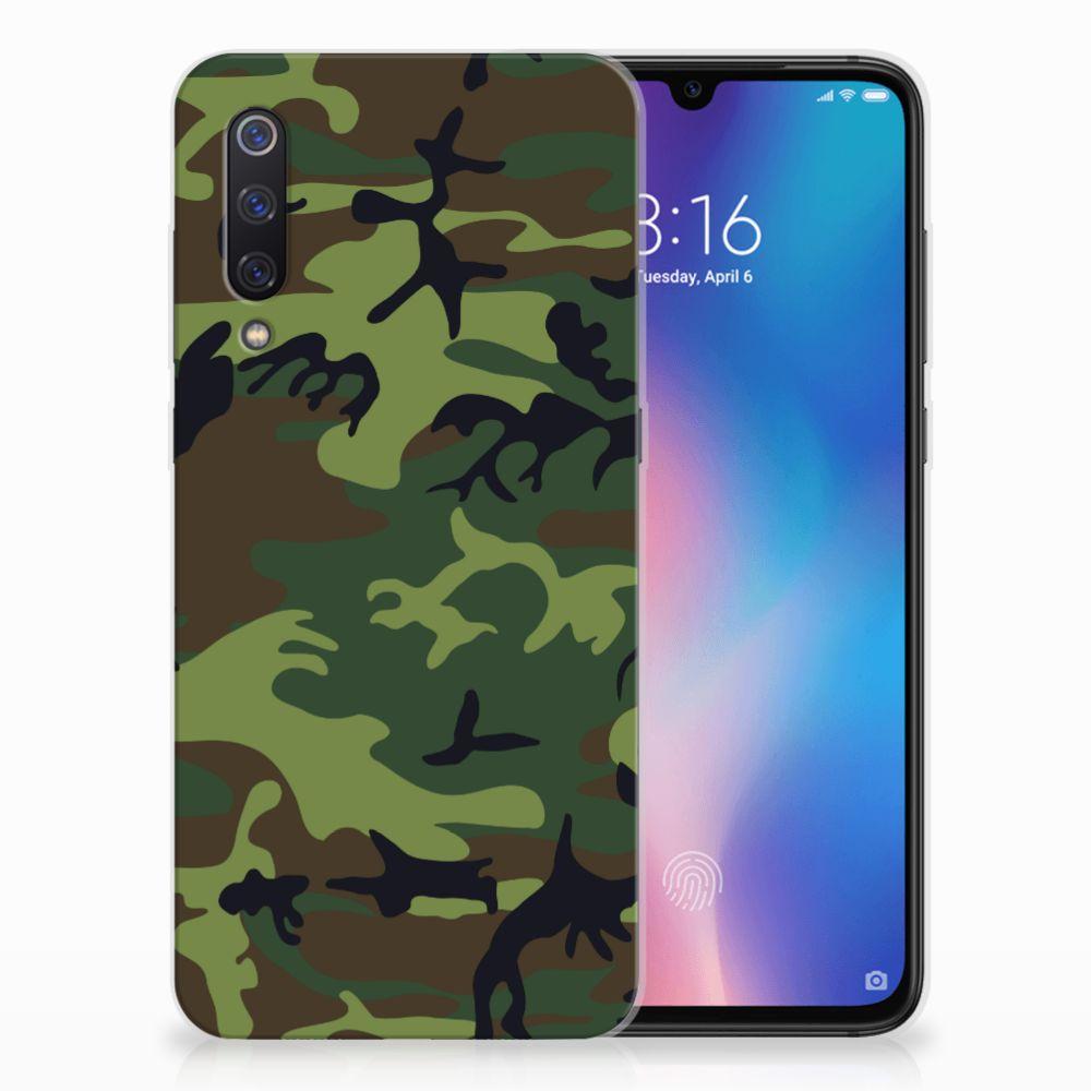 Xiaomi Mi 9 TPU Hoesje Design Army Dark