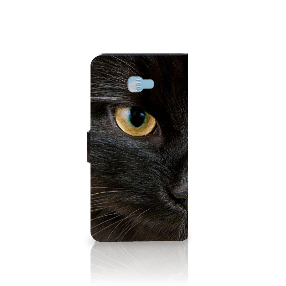 Samsung Galaxy J4 Plus (2018) Telefoonhoesje met Pasjes Zwarte Kat