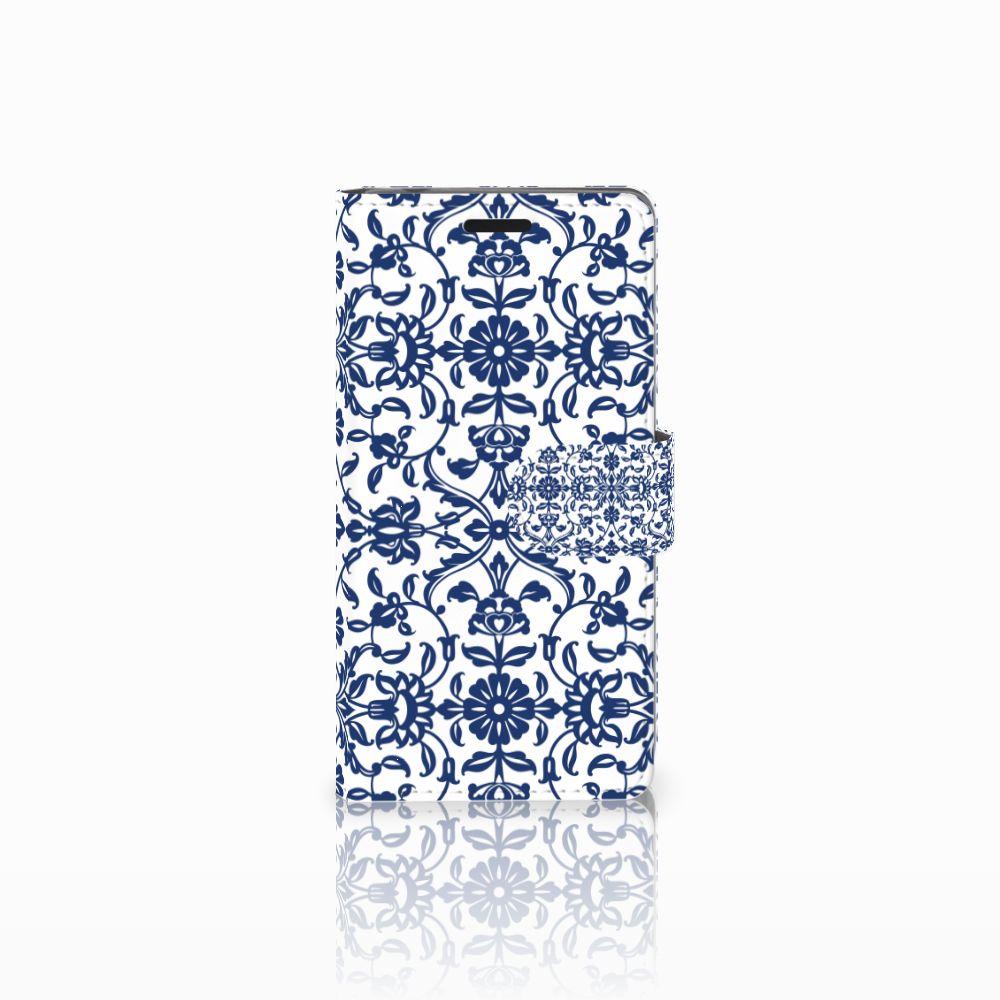 Sony Xperia E3 Boekhoesje Flower Blue