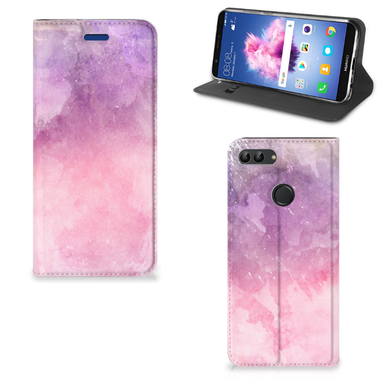 Bookcase Huawei P Smart Pink Purple Paint
