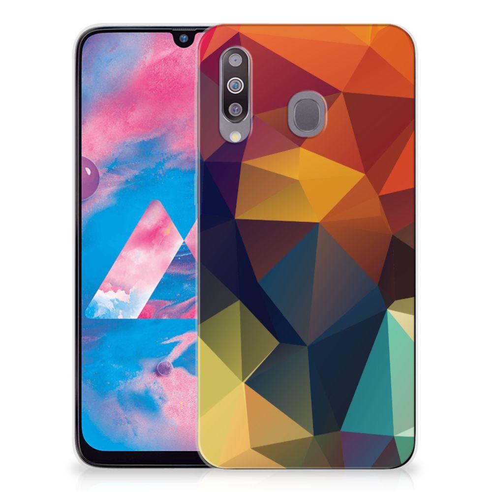Samsung Galaxy M30 TPU Hoesje Polygon Color