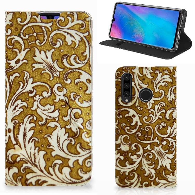 Telefoon Hoesje Huawei P30 Lite New Edition Barok Goud