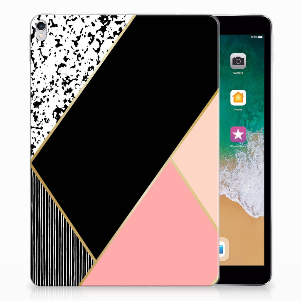Apple iPad Pro 10.5 Uniek Tablethoesje Black Pink Shapes