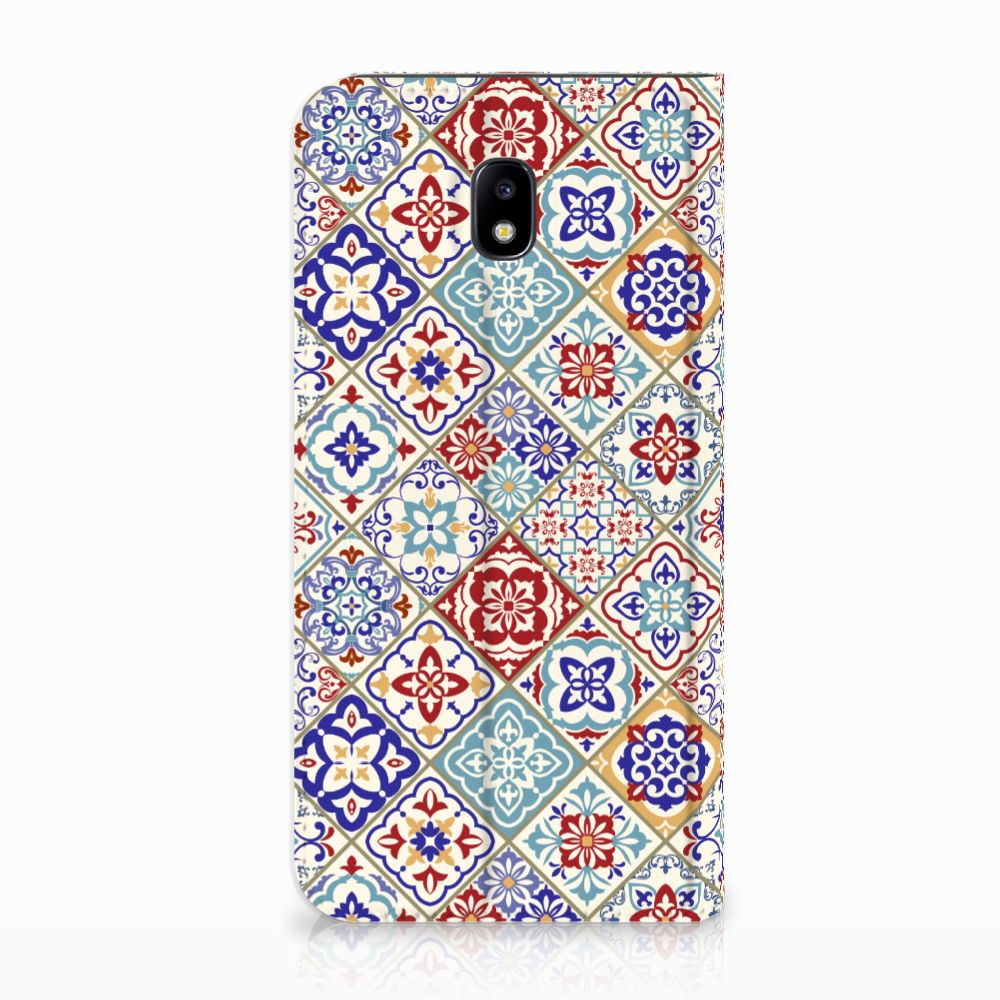 Samsung Galaxy J5 2017 Uniek Standcase Hoesje Tiles Color