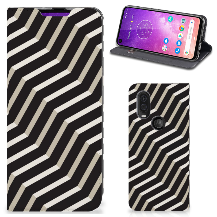 Motorola One Vision Stand Case Illusion