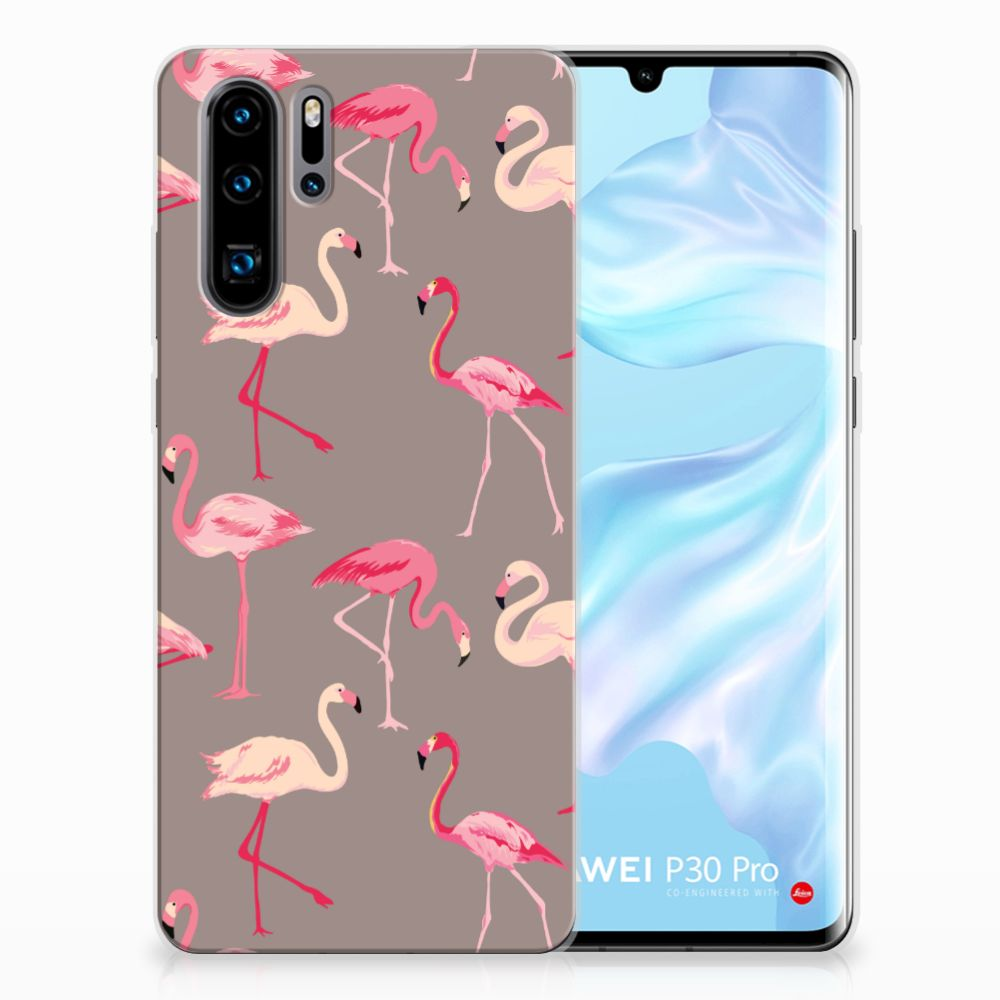 Huawei P30 Pro Uniek TPU Hoesje Flamingo