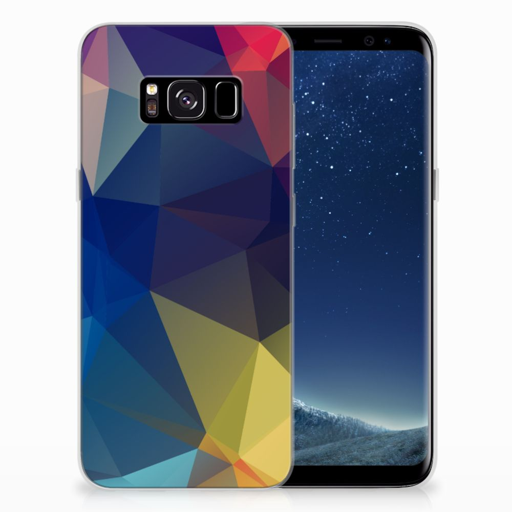 Samsung Galaxy S8 TPU Hoesje Polygon Dark