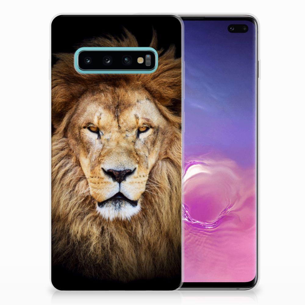 Samsung Galaxy S10 Plus TPU Hoesje Design Leeuw