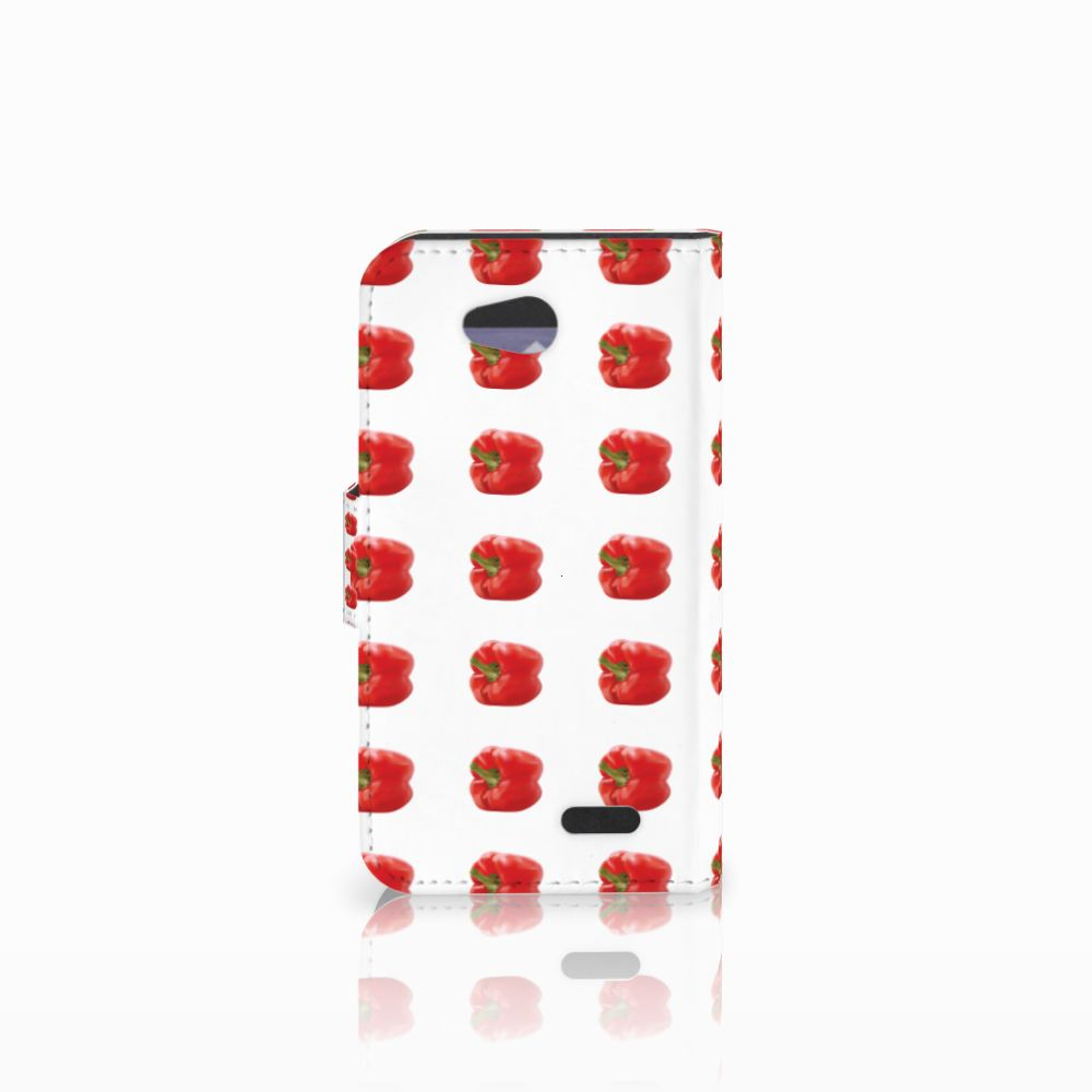 LG L90 Book Cover Paprika Red