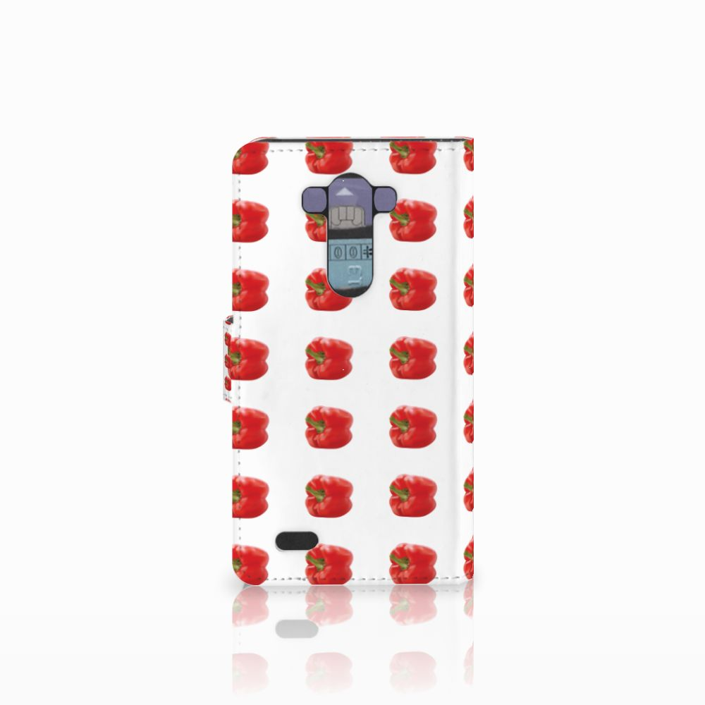 LG G3 Book Cover Paprika Red
