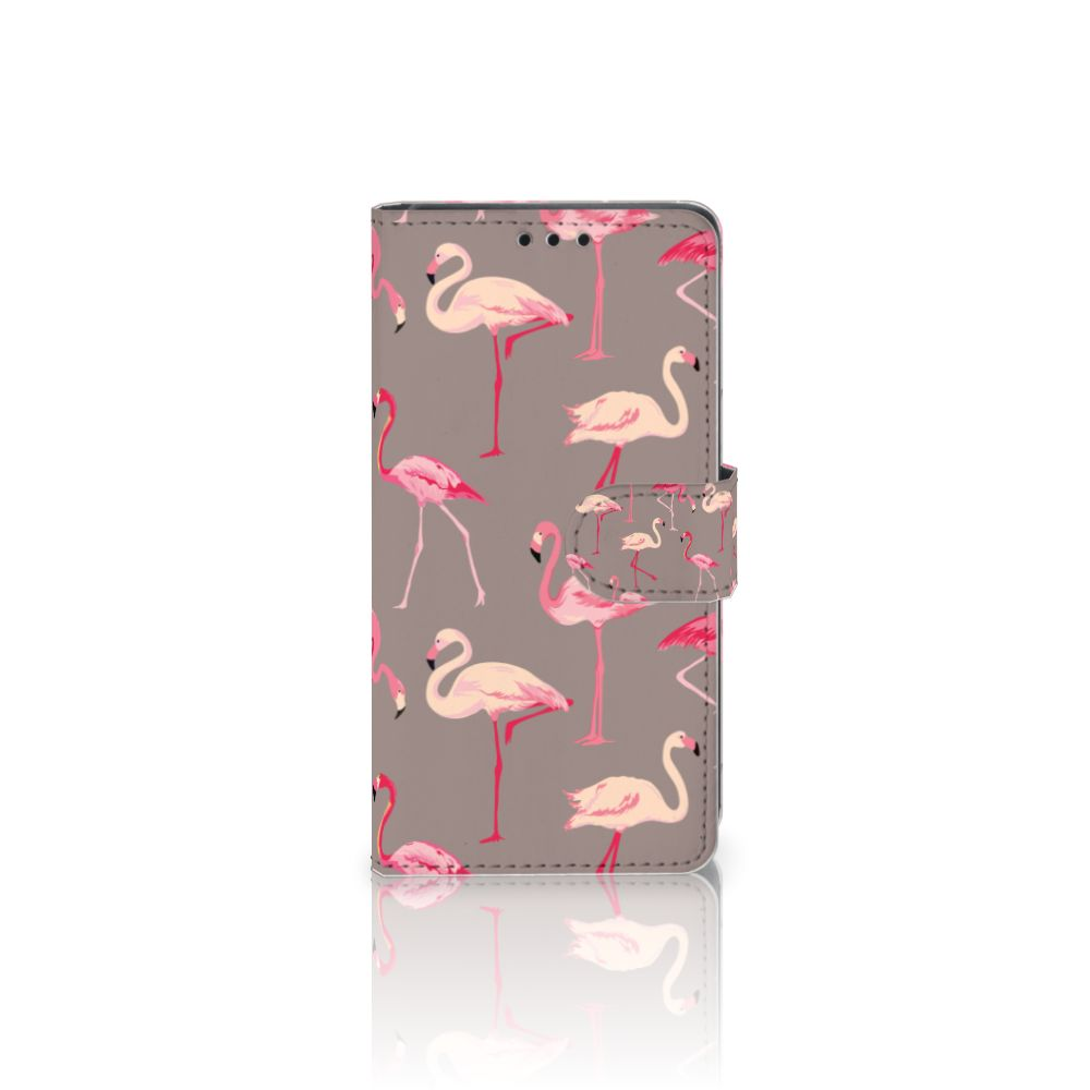 Sony Xperia Z5 | Z5 Dual Uniek Boekhoesje Flamingo